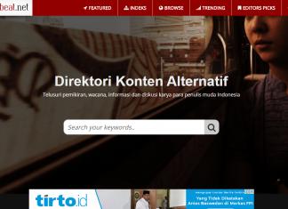 Tampilan Jakartabeat yang didirikan Philips Vermonte dan Taufiq Rahman.